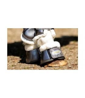 Cloche laquée gris avec Strass - la halle aux minis