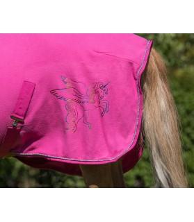 "Chemise polaire ""Pegasus"" fuschia - La halle aux minis"