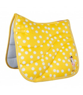 tapis gelato point jaune et blanc  - la halle aux minis