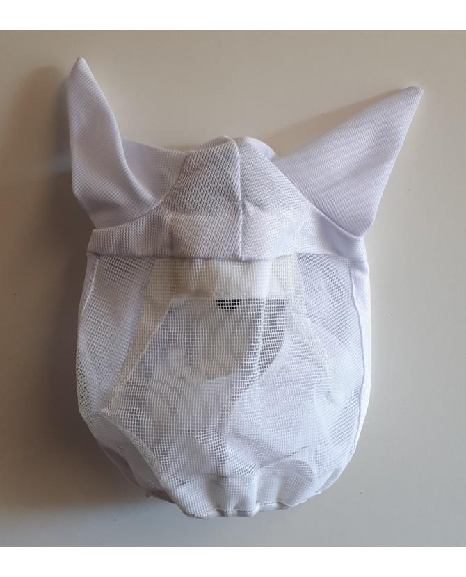 Masque anti-mouche blanc - mini shet - sans bout de nez-  la halle aux minis