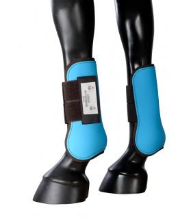 101410-guetres-bicolore-poney-turquoise&brun_lahalleauxminis