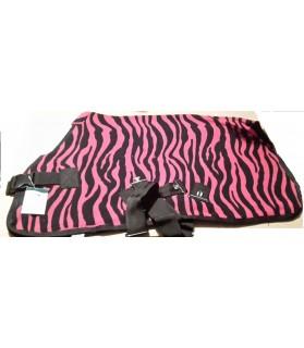 Couverture polaire Zebra cerise - la halle aux minis